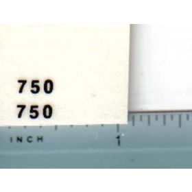 Decal 1/16 John Deere Grinder Mixer 750 Model Numbers