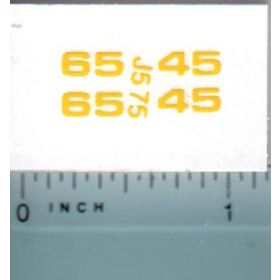 Decal 1/16 John Deere Loader 45 & 46 Model Numbers