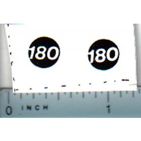 Decal 1/16 Massey Ferguson 180 Model Numbers