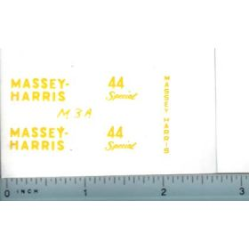 Decal 1/16 Massey Harris 44 Special