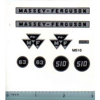 Decal 1/16 Massey Ferguson Combine 510 Set