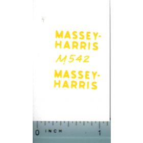 Decal 1/16 Massey Harris yellow (pair)