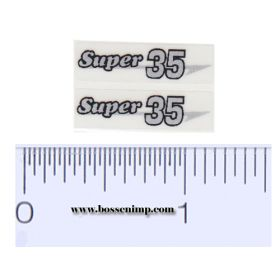Decal 1/16 Massey Harris Combine Super 35 Silver, Black Outline (pair)