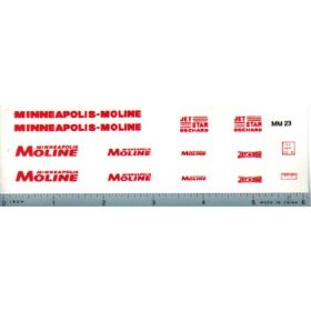 Decal 1/16 Minneapolis Moline Model  Jet Star Set - Red