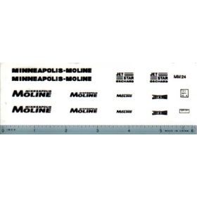 Decal 1/16 Minneapolis Moline Model Jet Star Set - Black