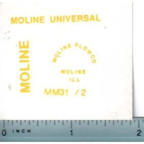 Decal 1/16 Minneapolis Moline Model Universal Set