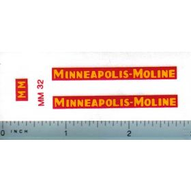 Decal 1/16 Minneapolis Moline Model UB set