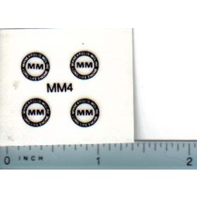 Decal 1/16 Minneapolis Moline Model Circle