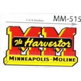 Decal 1/16 Minneapolis Moline The Harvestor