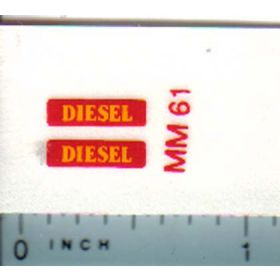 Decal 1/16 Minneapolis Moline Diesel