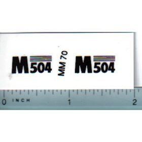 Decal 1/16 Minneapolis Moline M504 Model Numbers
