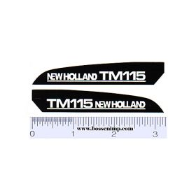 Decal 1/16 New Holland TM115 Hood Panels