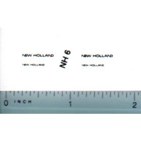 Decal 1/64 New Holland (black)