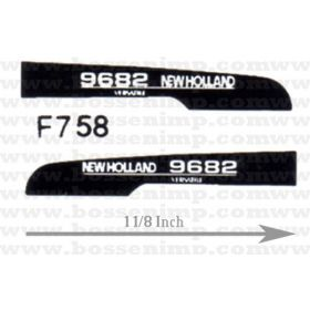 Decal 1/64 New Hollad 9682 Hood Panels