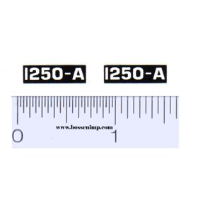 Decal 1/16 Oliver 1250-A Model Numbers (Pair)
