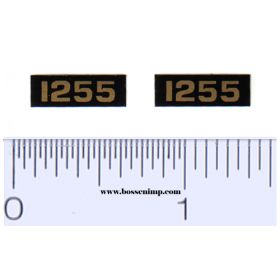 Decal 1/16 Oliver 1255 Model Numbers (Pair)