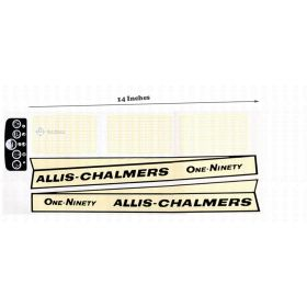 Decal Allis Chalmers 190 bar grille Pedal Tractor Water Transfer