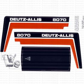 Decal Deutz-Allis 8070 Pedal Tractor