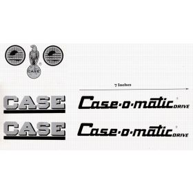 Decal Case 800 Case-o-matic Pedal Tractor  Water Transfer