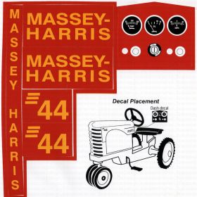 Decal Massey Harris 44 Pedal Tractor