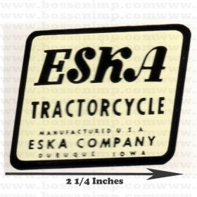 Decal Eska logo tractorcycle