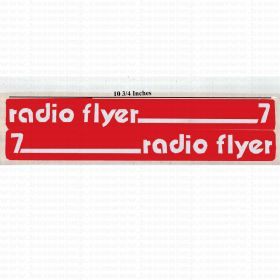 Decal Radio Flyer 7 version 1 Wagon