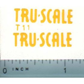 Decal 1/16 Tru Scale (yellow)