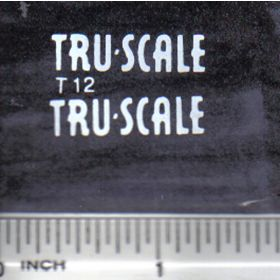 Decal 1/16 Tru Scale (white)