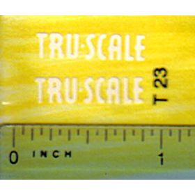 Decal 1/16 Tru Scale cream