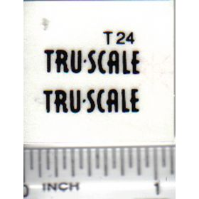 Decal 1/16 Tru Scale (black)