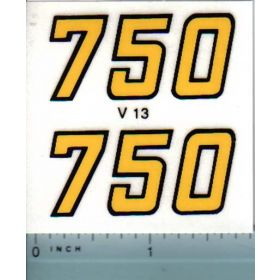 Decal 1/16 Versatile 750 Series 2 Mo. # (early)