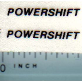 Decal 1/16 Powershift (black on clear)