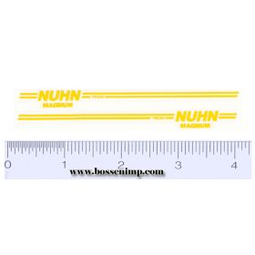 Decal Nuhn 7500 - Yellow (pair)