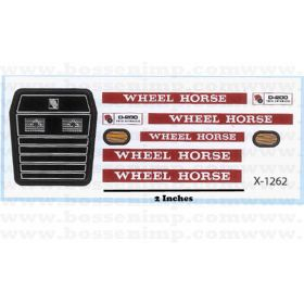Decal 1/12 Wheel Horse D-200 Garden Tractor Set