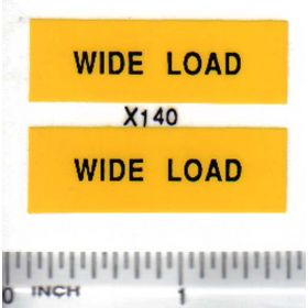 Decal Wide Load - Black on Yellow small