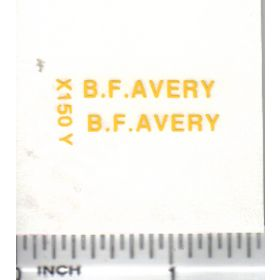 Decal 1/16 BF Avery - Yellow Large