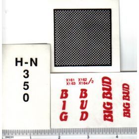 Decal 1/16 Big Bud HN-350 Set