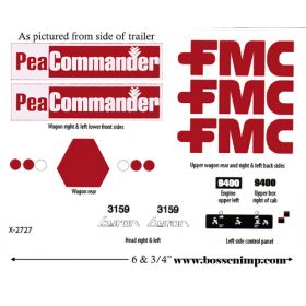 Decal 1/20 Byron/FMC Vegetable Harvester Set