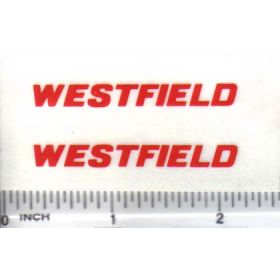 Decal 1/16 Westfield - Red