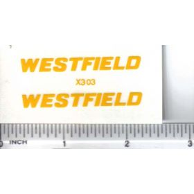 Decal 1/16 Westfield - Yellow