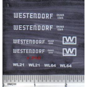 Decal 1/16 Westendorf WL21, WL64 - White