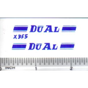 Decal 1/16 Dual - Blue