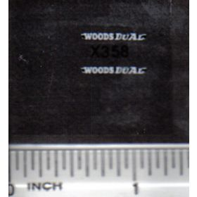 Decal 1/64 Woods Dual - White, Black