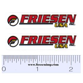 Decal 1/64 Friesen Set of 2