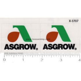 Decal 1/64 Asgrow Set of 2