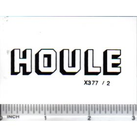 Decal 1/16 Houle - White, Black