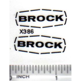 Decal Brock Grain Bin 1 3/8in.