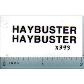 Decal 1/16 Haybuster