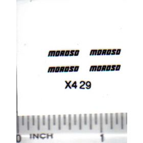 Decal 1/16 Moroso - Black
