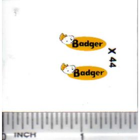 Decal 1/64 Badger
